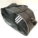 Дорожні спортивні сумки Adidas з плащової тканини (чорний)26*48см, фото 2
