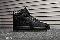 Кроссовки мужские зимние Nike Duckboot Lunar Force Black. ТОП КАЧЕСТВО!!! Реплика класса люкс (ААА+), фото 1