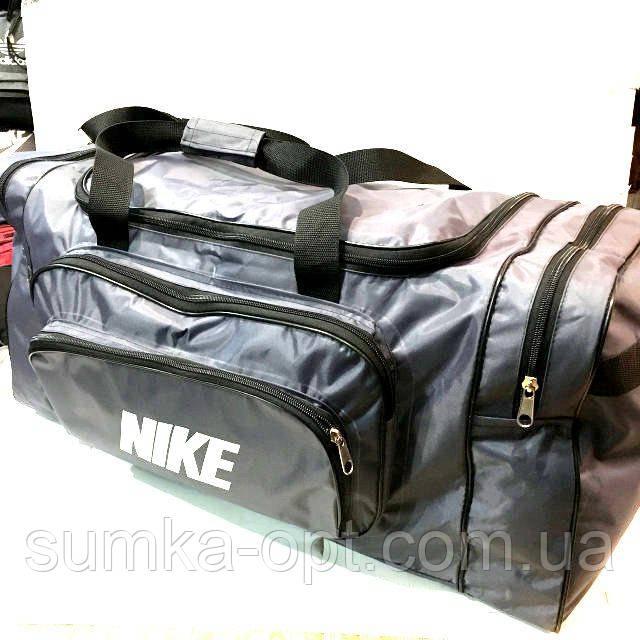 Дорожные спортивные сумки Nike из плащевки (серый)33*70см