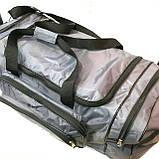 Дорожные спортивные сумки Nike из плащевки (серый)33*70см, фото 2