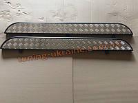 Пороги боковые подножки площадки цвет черный мат на Chery Tiggo I 2006-2010