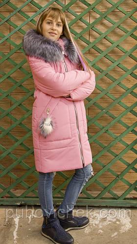 Модная зимняя куртка пуховик для девочки