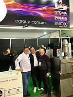 """FoReCH 2018 - первая выставка компании """"Е-групп"""", мы представили марки Vulcan (печи гриль, для пиццы, для утки по-пекински), Istoma (печи низкотемпературные с функцией копчения), Polair (холодильные шкафы), Inox (мебель из нержавейки для общепита)"""