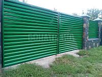 Распашные ворота с зашивкой жалюзи BonaFence 1800, 4000