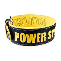 Пояс для тяжелой атлетики Power System Beast PS-3830 Black/Yellow, фото 1