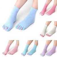 Носки-перчатки женские с раздельными разноцветными пальцами