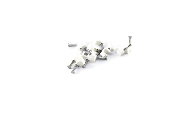 Скоба для крепления кабеля плоская 4мм (100 шт) АСКО, 0837