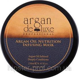 Питательная маска для волос с маслом арганы De Luxe Professional Argan Oil Nutrition Infusing Mask 250 ml