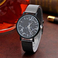Роскошные часы с циферблатом под мрамор железные