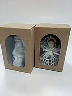 Коробка для подарков с окном крафт