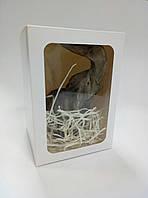 Упаковка подарочная с окном  белая (120*120*170 мм)