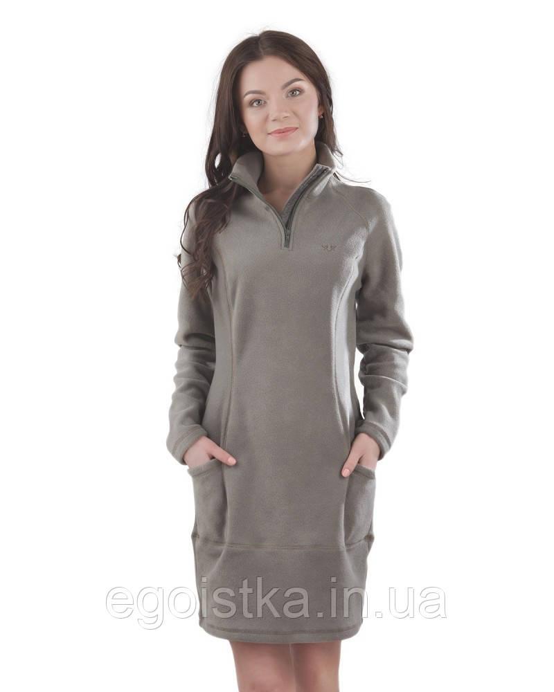 Теплое флисовое платья (в расцветках XS - 3XL), фото 1