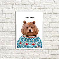Постер в рамке Stay Warm А5 (MT5_19NG014_WH)