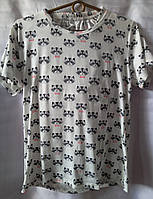 Пижама с енотами коттоновая женская (шорты+футболка) (S/46), фото 1