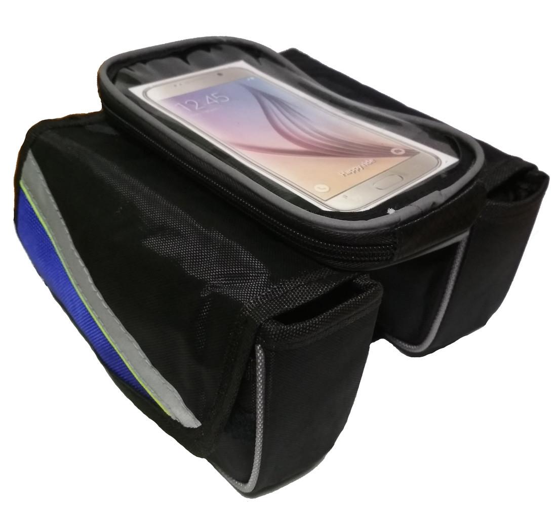 Сумка-штаны велосипедная под смартфон на раму DN BG-40-27