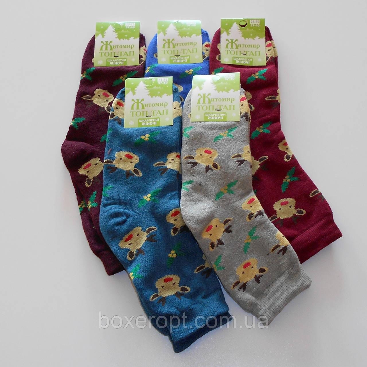 Женские махровые носки Топ-Тап - 11.50 грн./пара (оленята), фото 1