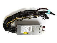 Блок питания серверный для майнинг фермы 1000W HP DPS-800GB распаянный 6х6pin + 6x8pin 12В 82А