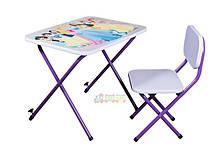Детская парта со стульчиком Ommi, фиолетовая