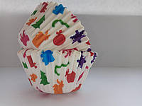 Форма бумажная для кексов тарталетка Новый Год 500 шт., фото 1