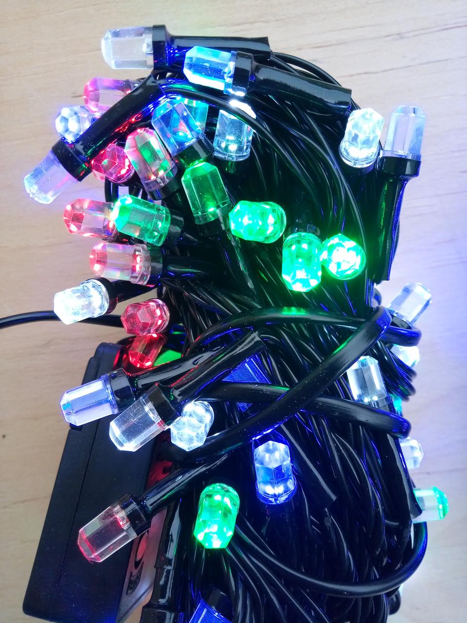 Новогодняя светодиодная гирлянда РУБИН 100LED мультикольор