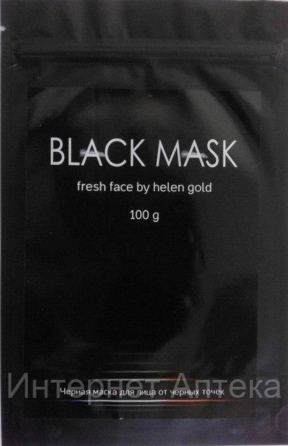 Чёрная маска от черных точек и прыщей на лице