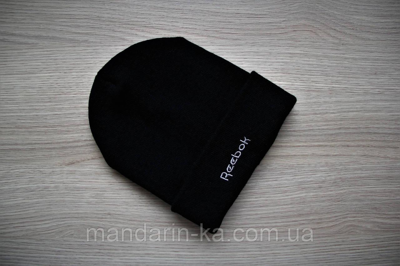Мужская черная шапка реплика