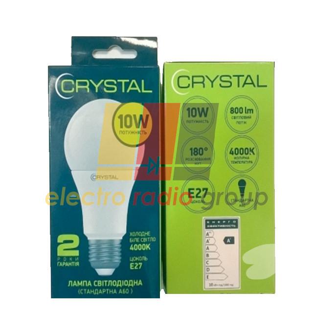 А60-015 Лампа светодиодная CRYSTAL Gold  10W PA E27 4000