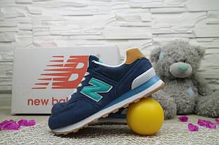 Кроссовки Classik NB574 3020-6 (New Balance) (весна-осень, женские, замш, синий)