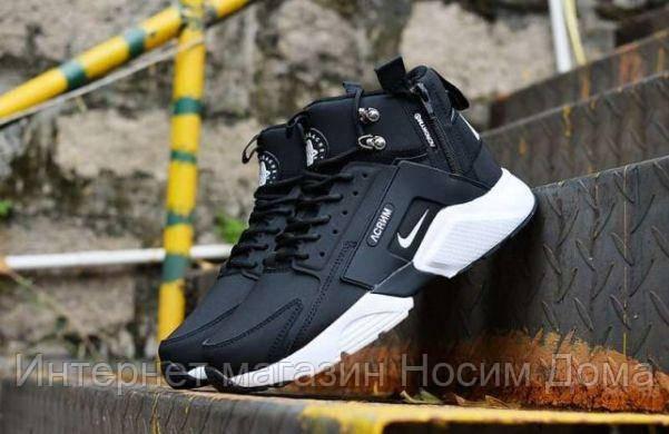 best website a7d3d 678bc Кроссовки Nike Huarache X Acronym City MID Leather Black/White 2006