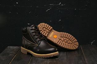 Ботинки подростковые Yuves 444 коричневые (натуральная кожа, зима)