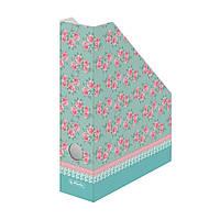 Лоток для бумаг вертикальный Herlitz 7см картон Ladylike Butterfly (11366747)