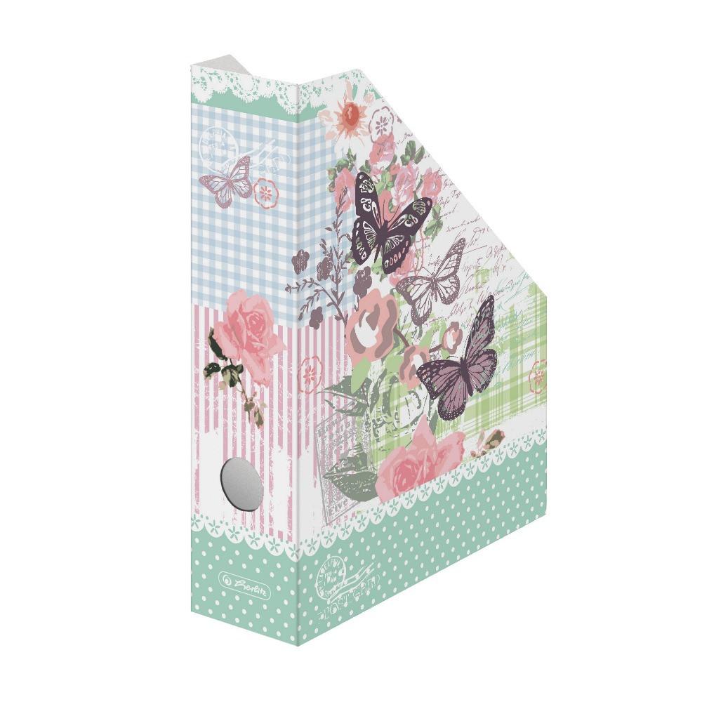 Лоток для бумаг вертикальный Herlitz 7см картон Ladylike Roses (11225141)