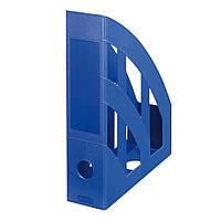 Лоток для бумаг вертикальный Herlitz 7.5см Classic Solid синий (65011)
