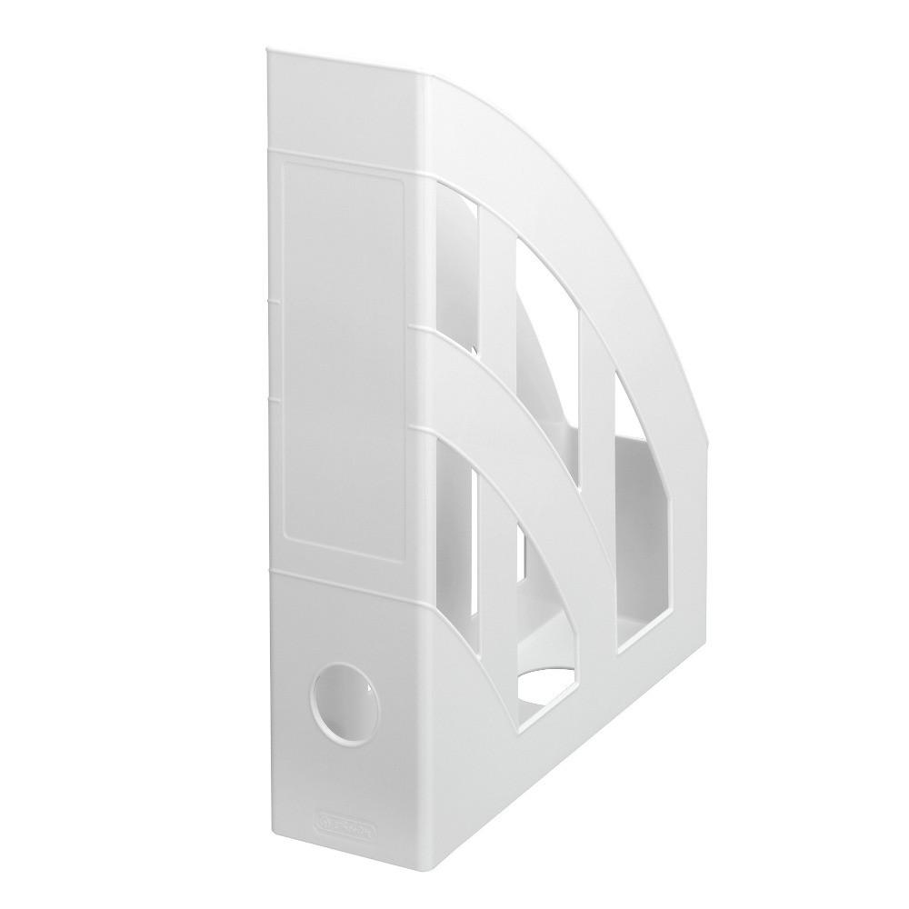 Лоток для бумаг вертикальный Herlitz 7.5см Classic Solid серый (65029)