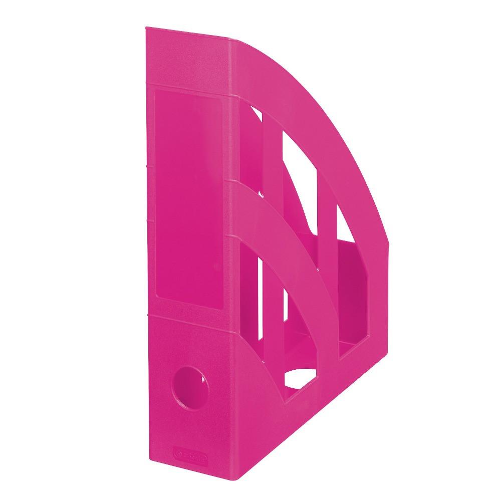 Лоток для бумаг вертикальный Herlitz 7.5см Colour Blocking Cool Pink малиновый  (11363728)