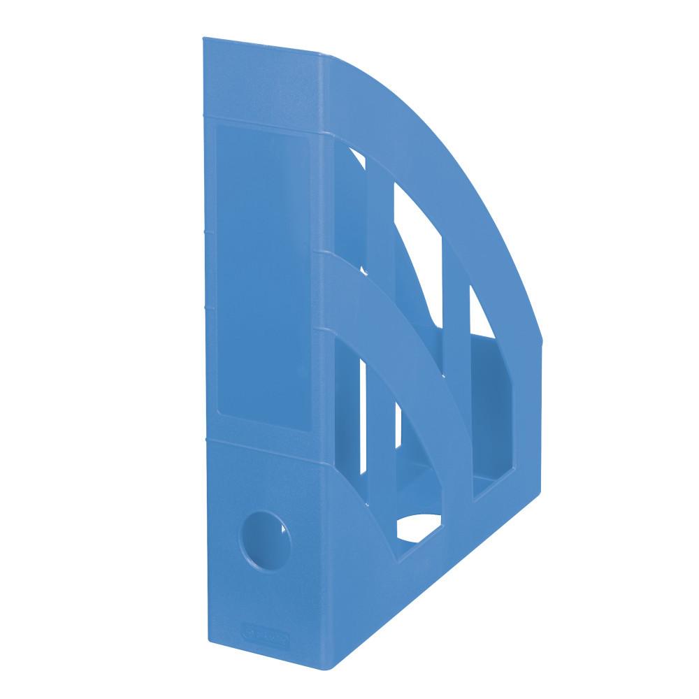 Лоток для бумаг вертикальный Herlitz 7.5см Colour Blocking Baltic Blue голубой (50015764)
