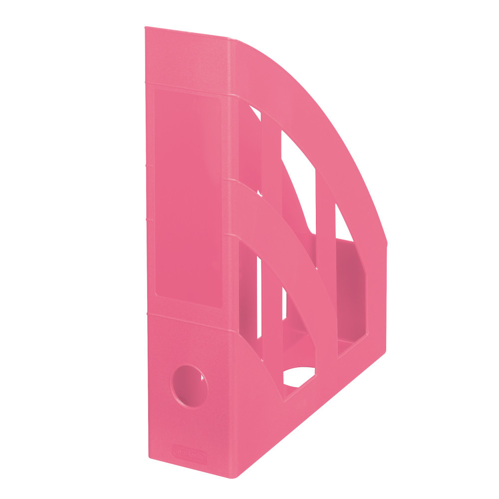 Лоток для бумаг вертикальный Herlitz 7.5см Colour Blocking Indonesia Pink розовый (50015757)