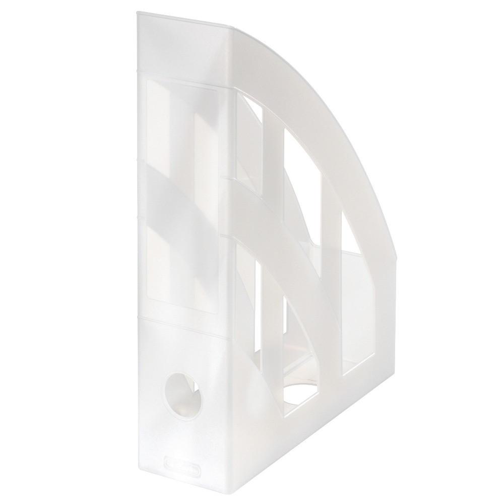 Лоток для бумаг вертикальный Herlitz 7.5см Classic Transparent белый полупрозрачный (10167443)