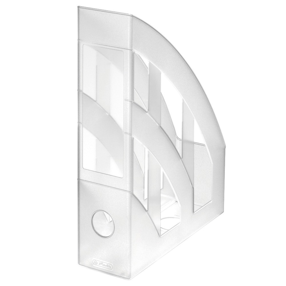 Лоток для бумаг вертикальный Herlitz 7.5см Classic Transparent бесцветный прозрачный  (10493724)