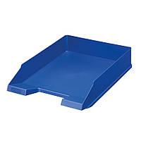 Лоток для бумаг горизонтальный Herlitz Classic Solid синий (64014)