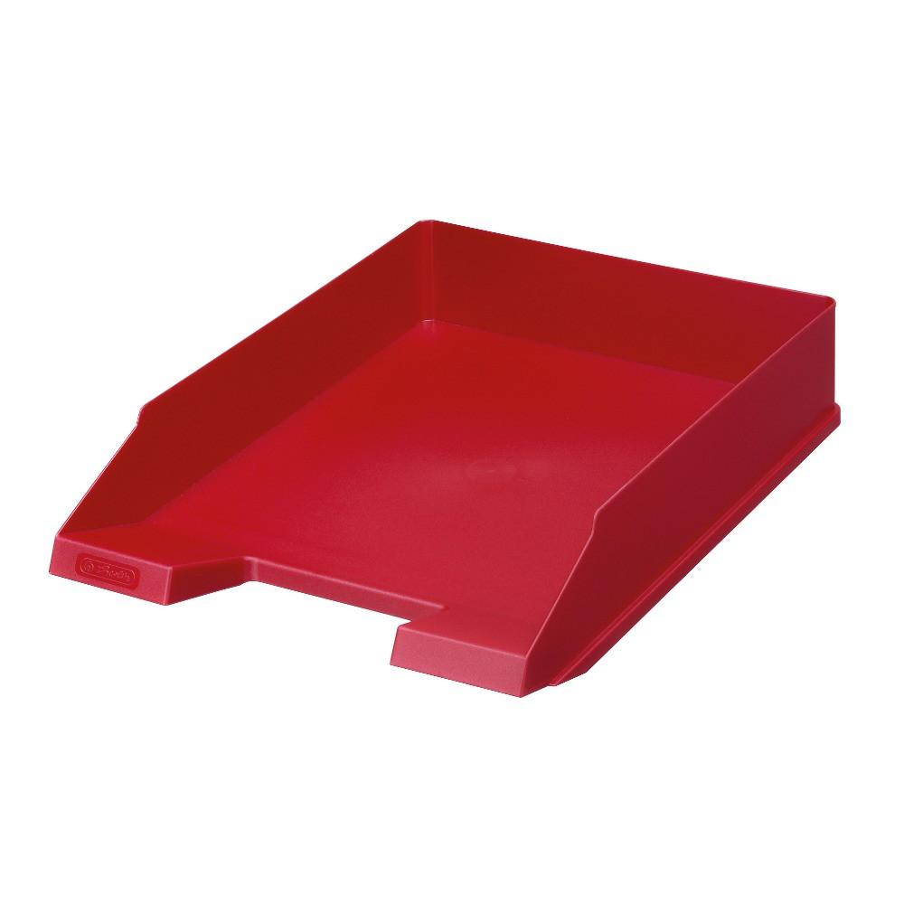 Лоток для бумаг горизонтальный Herlitz Classic Solid красный (64006)
