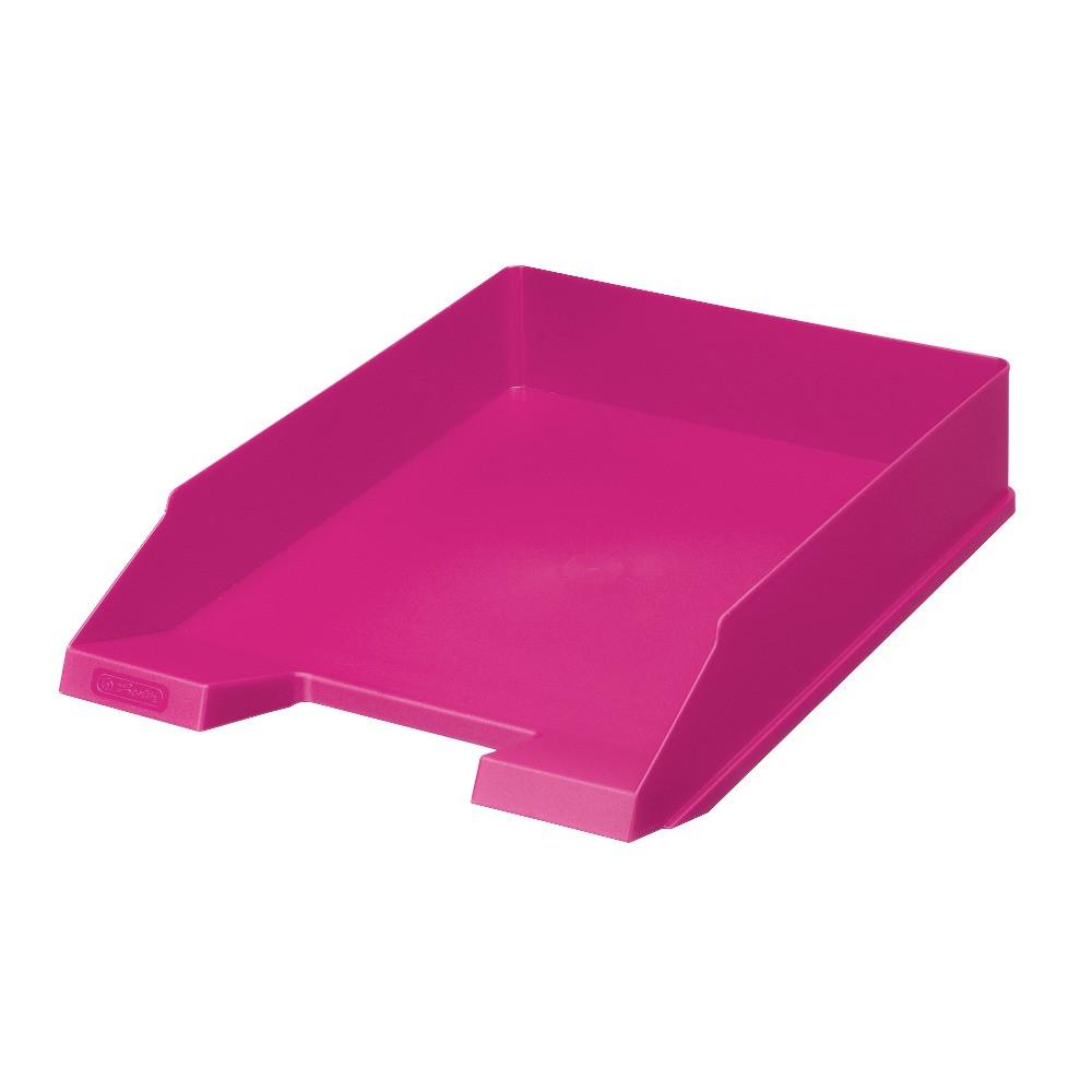 Лоток для бумаг горизонтальный Herlitz Colour Blocking Cool Pink малиновый (11363595)