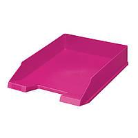Лоток для бумаг горизонтальный Herlitz Colour Blocking Cool Pink малиновый (11363595), фото 1