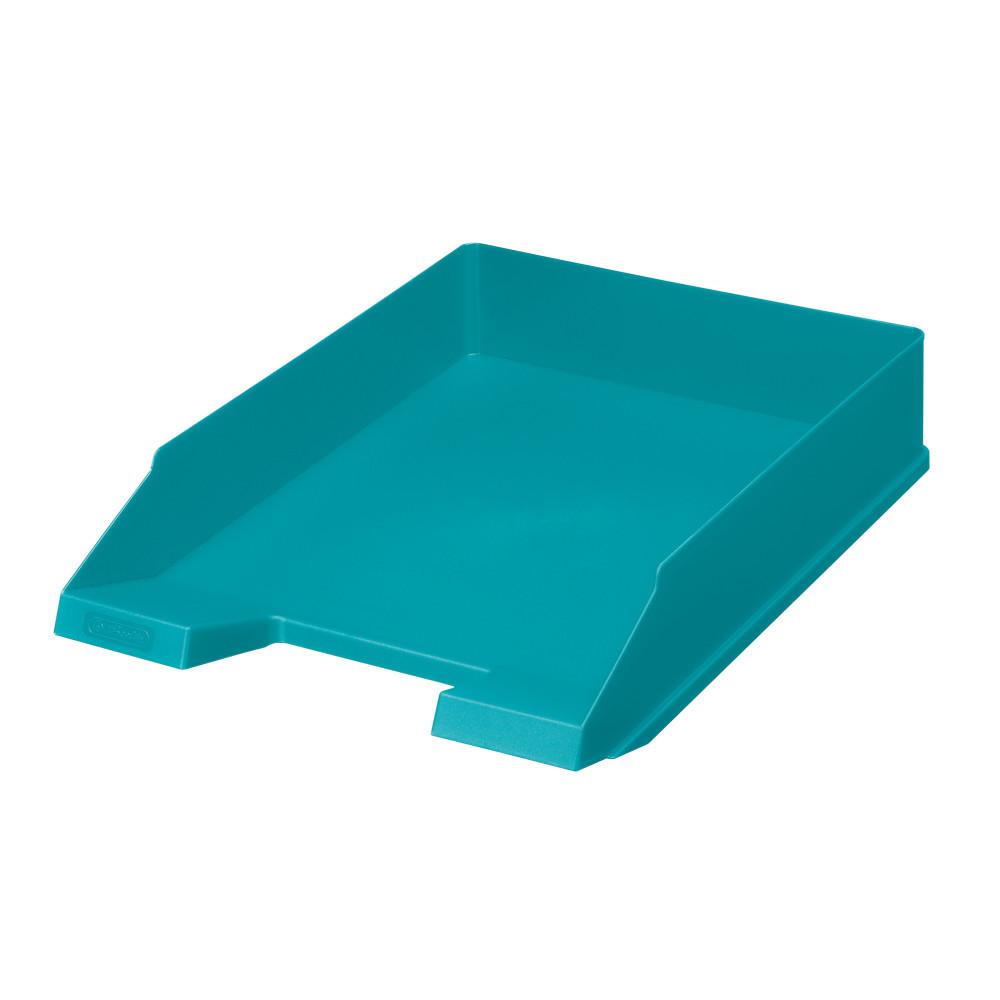 Лоток для бумаг горизонтальный Herlitz Colour Blocking Caribbean Turquoise бирюзовый (50015719)