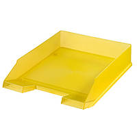 Лоток для бумаг горизонтальный Herlitz Classic Transparent желтый полупрозрачный (10653772)