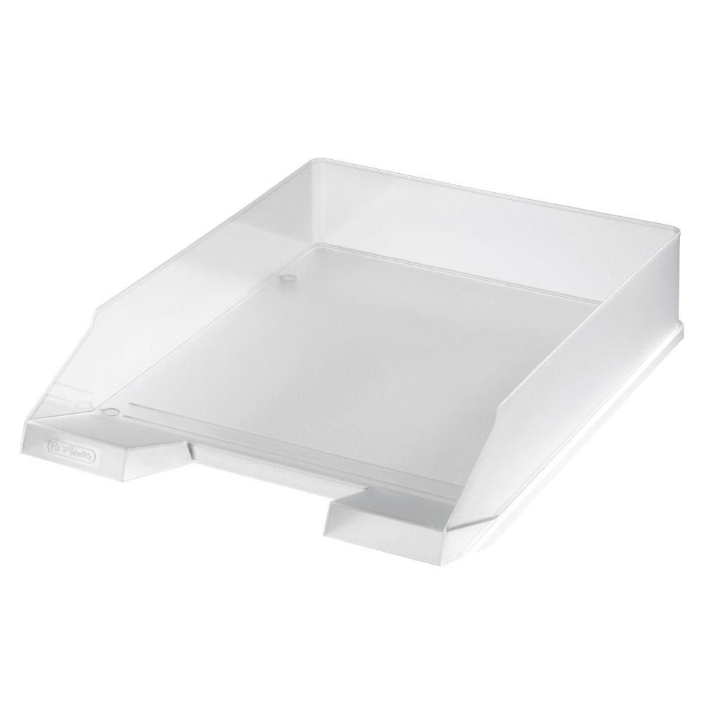 Лоток для бумаг горизонтальный Herlitz Classic Transparent бесцветный прозрачный (10493609)