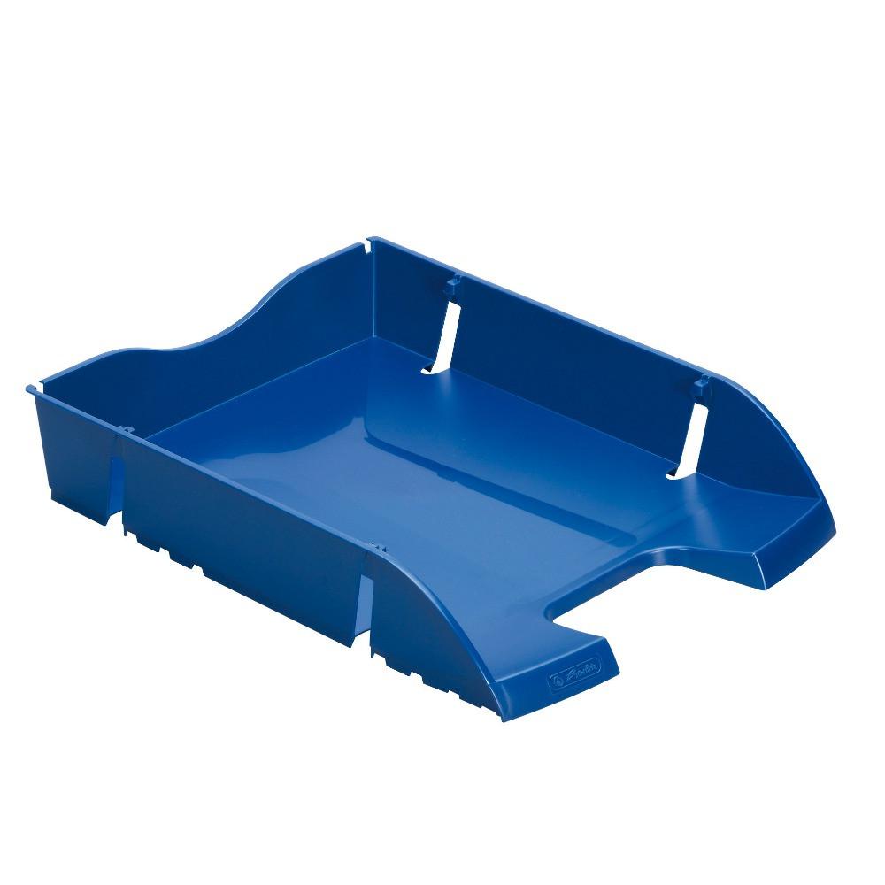 Лоток для бумаг горизонтальный Herlitz Space R-PET Solid синий (11247095)