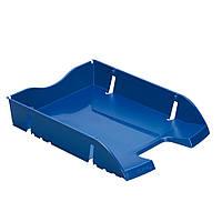 Лоток для бумаг горизонтальный Herlitz Space R-PET Solid синий (11247095), фото 1