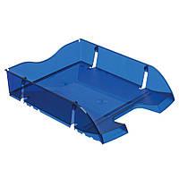 Лоток для бумаг горизонтальный Herlitz Space R-PET Transparent синий полупрозрачный (11247244), фото 1