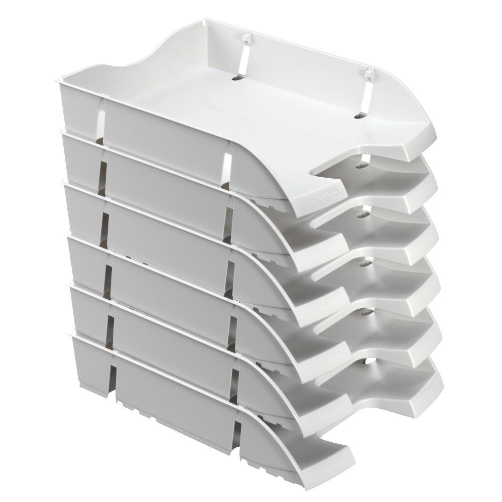 Лоток для бумаг горизонтальный Herlitz Space R-PET Solid серый (11247103)